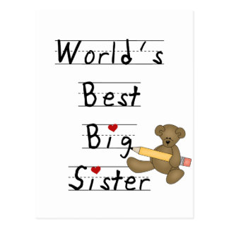 World's Best Big Sister Tshirts and Gifts Postcard