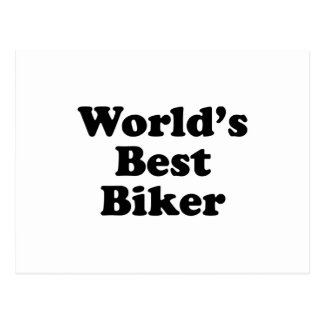 World's Best Biker Postcard