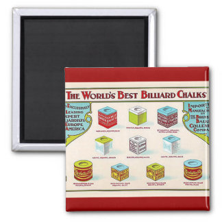 World's Best Billiard Chalks Refrigerator Magnets