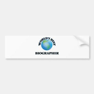World's Best Biographer Car Bumper Sticker