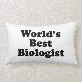 World's Best Biologist Pillow