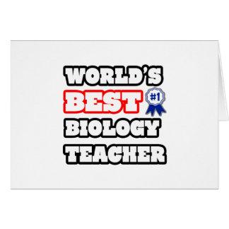 World's Best Biology Teacher Card