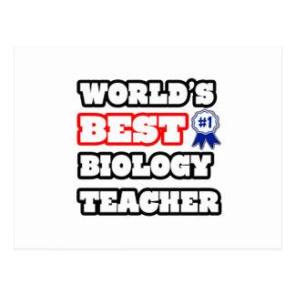 World's Best Biology Teacher Postcard
