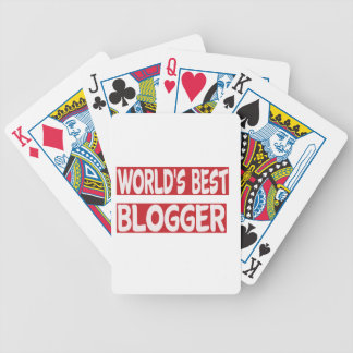 World's Best Blogger. Bicycle Playing Cards