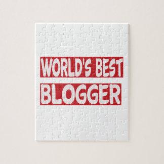 World's Best Blogger. Jigsaw Puzzles