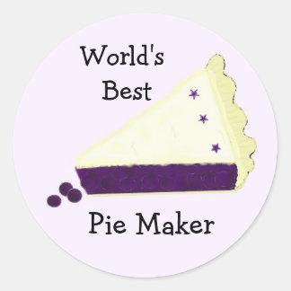World's Best Blueberry Pie Maker Classic Round Sticker