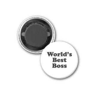 World's Best Boss 1 Inch Round Magnet