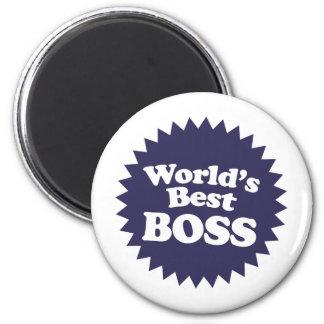 World's Best Boss 2 Inch Round Magnet