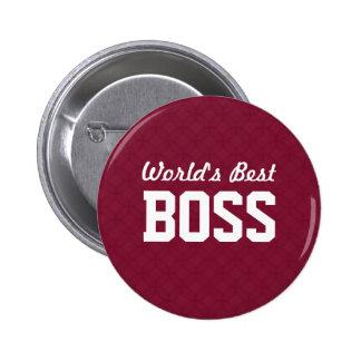 World's Best BOSS Appreciation Gift A07 Pinback Buttons
