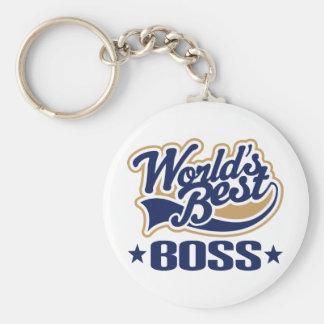 Worlds Best Boss Basic Round Button Keychain