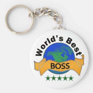 World's Best Boss Basic Round Button Keychain