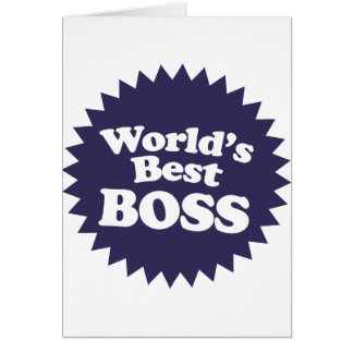 World's Best Boss Card