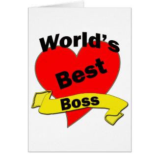 World's Best Boss Cards