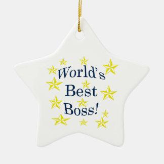 Worlds Best Boss Ceramic Ornament