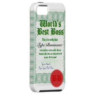 World's Best Boss Certicate iPhone SE/5/5s Case