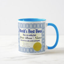 World's Best Boss Certificate Mug