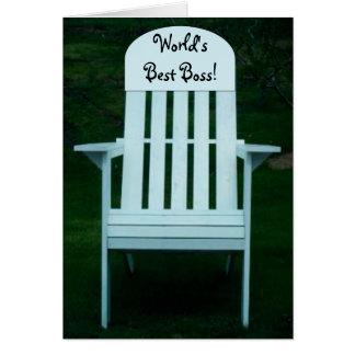 World's Best Boss Chair Card