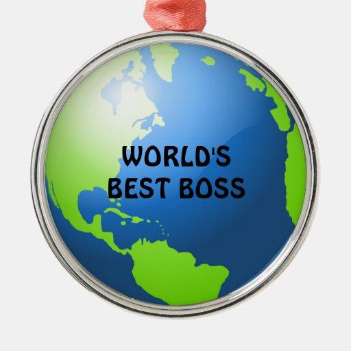 World S Best Boss Christmas Tree Ornament Zazzle