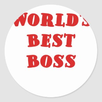 Worlds Best Boss Classic Round Sticker