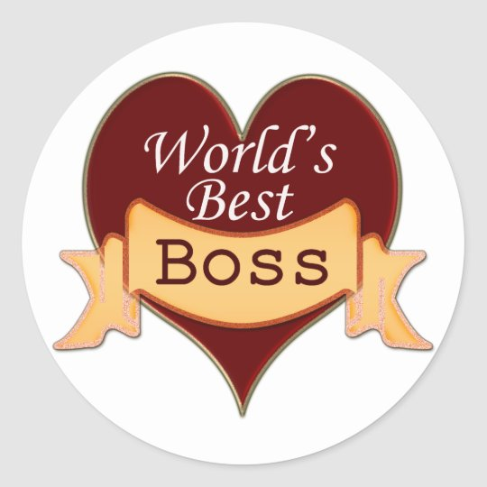 World's Best Boss Classic Round Sticker