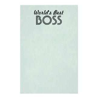Worlds Best Boss Custom Stationary BABY BLUE Stationery