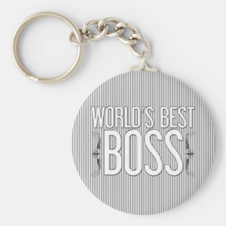 """World's Best BOSS"" Customized Keychains"