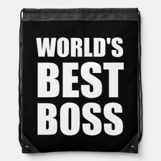 Worlds Best Boss Drawstring Backpack