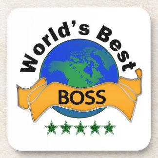 World's Best Boss Drink Coaster