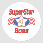 World's Best Boss Gifts Classic Round Sticker