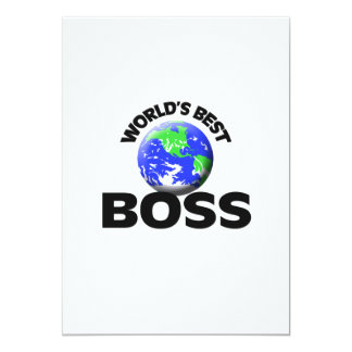 "World's Best Boss 5"" X 7"" Invitation Card"