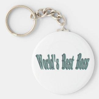 Worlds Best Boss Keychain