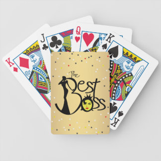 World's Best Boss lady Bicycle Playing Cards
