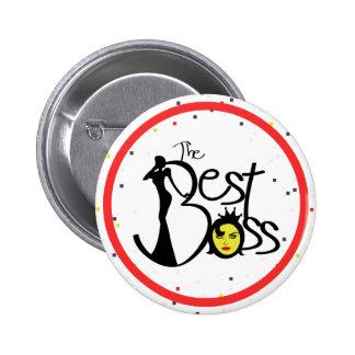 World's Best Boss lady Button