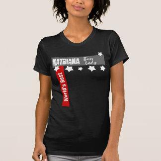 World's Best Boss Lady Stars Funny Custom T-Shirt