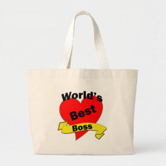 World's Best Boss Large Tote Bag