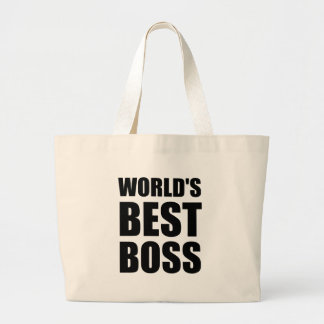 Worlds Best Boss Large Tote Bag