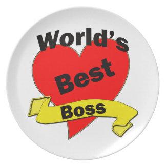 World's Best Boss Melamine Plate