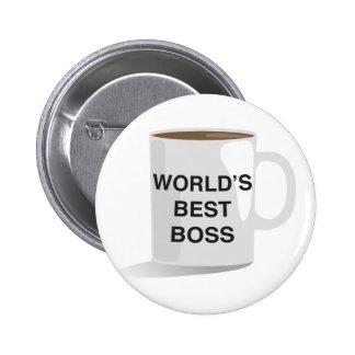World's Best Boss Pinback Button