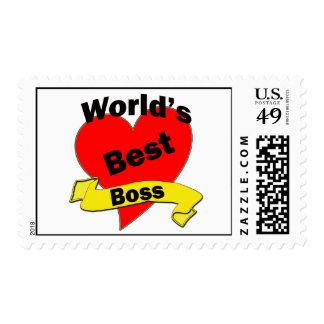 World's Best Boss Postage Stamp