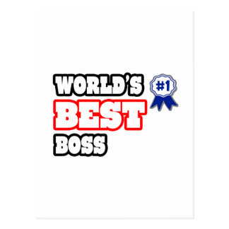 World's Best Boss Postcards