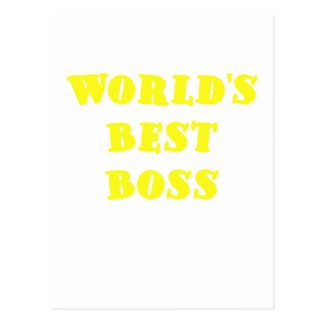 Worlds Best Boss Postcard