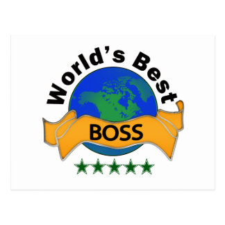 World's Best Boss Postcard