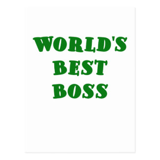 Worlds Best Boss Post Cards