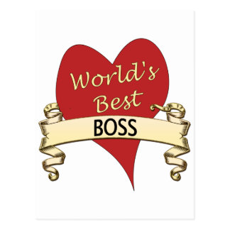 World's Best Boss Post Cards