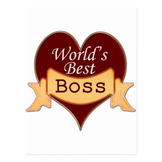 World's Best Boss Postcard