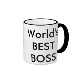 world's best boss ringer coffee mug