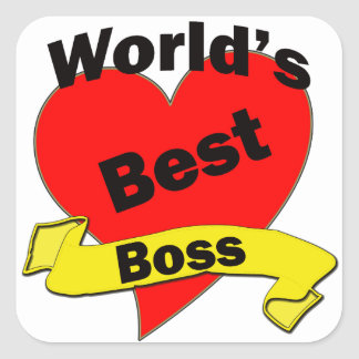 World's Best Boss Square Stickers