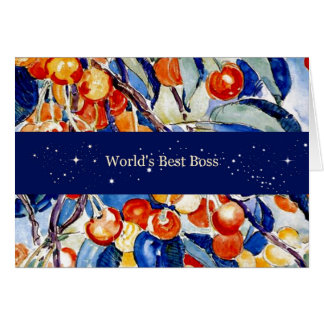 World's Best Boss - Theo van Rysselberghe artwork Greeting Cards