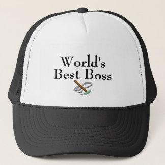 Worlds Best Boss Trucker Hat