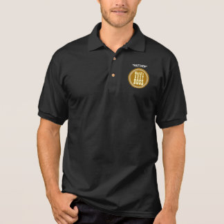 World's Best BOSS with Star A01 BLACK with Star Polo Shirt